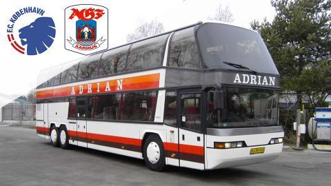 Bus fra Jylland til FCK-AGF med billet