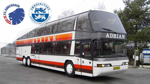 Bus fra Jylland til FCK-SjE