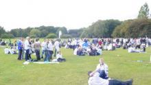 Opvarmning til derby i Parken