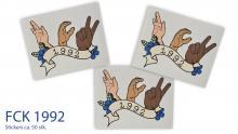 FCK stickers 1992