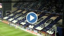 Video af tifoen mod Chelsea i Parken