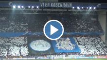 Video af tifoen mod Real Madrid i Parken