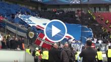 Tifo og stemning ude mod Bayer Leverkusen