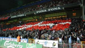 Tifo fra hjemmekampen mod Benfica