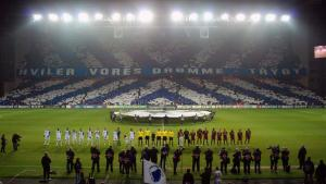 Tifo mod Barcelona 2. november 2010